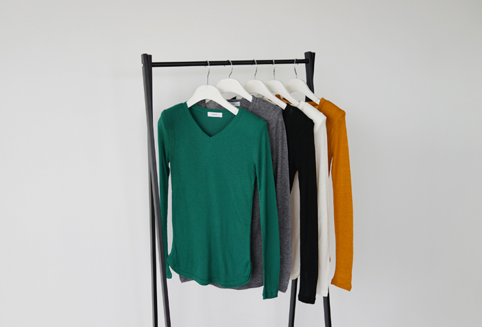 anndaly-E - sale 22900-> 7500 /숄더 패드 T (아이보리만 구매 가능)♡韓國女裝上衣