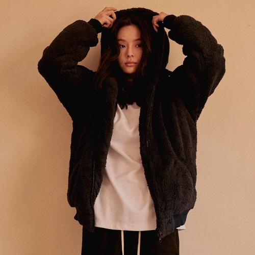 fairplay142-[[에인트크랙]보아털 후드집업 네이비]♡韓國男裝外套