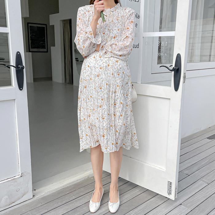 momnuri-임부복*프리지아 플리츠 원피스 ♡韓國孕婦裝連身裙