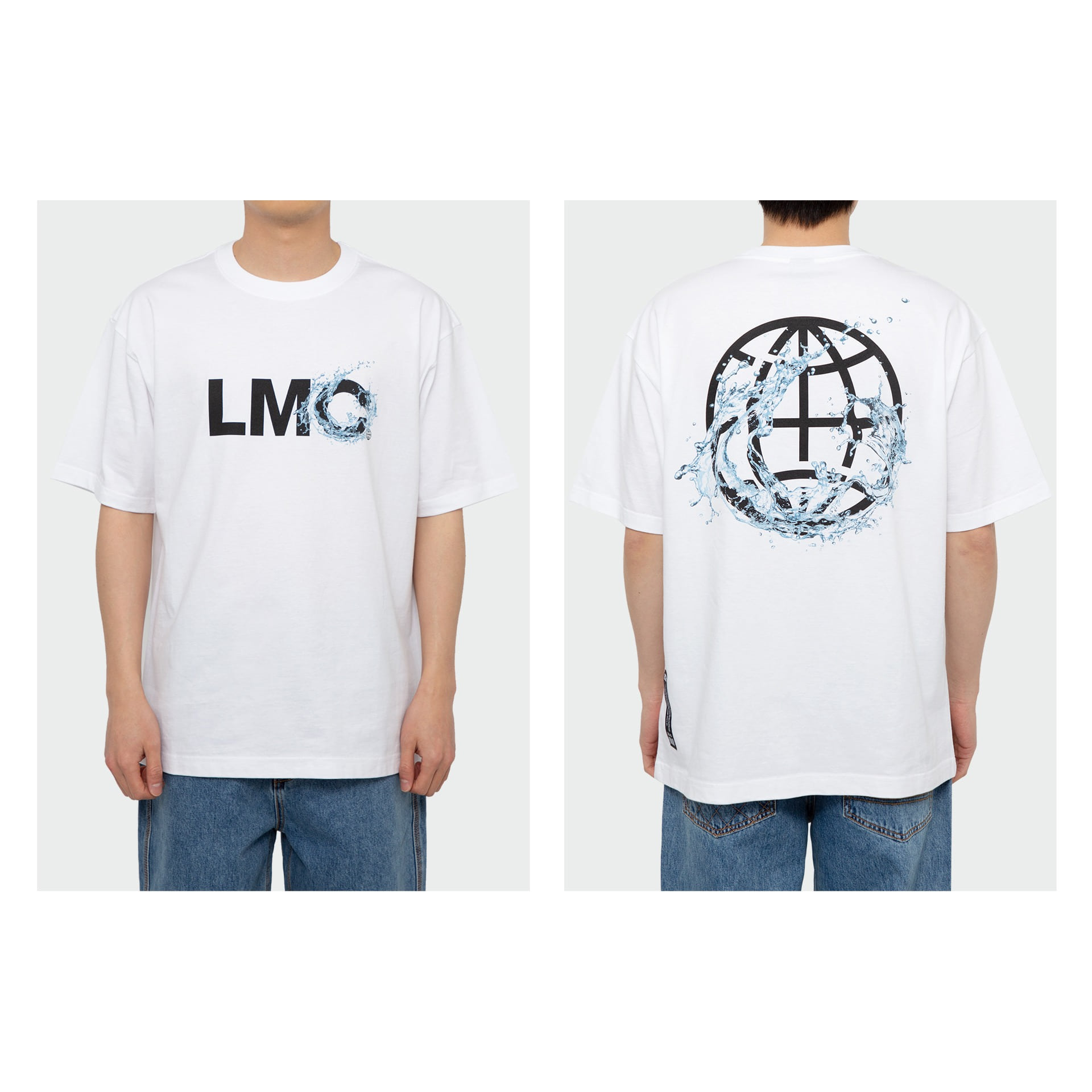layer-LMC WATER SPLASH TEE white♡韓國男裝上衣