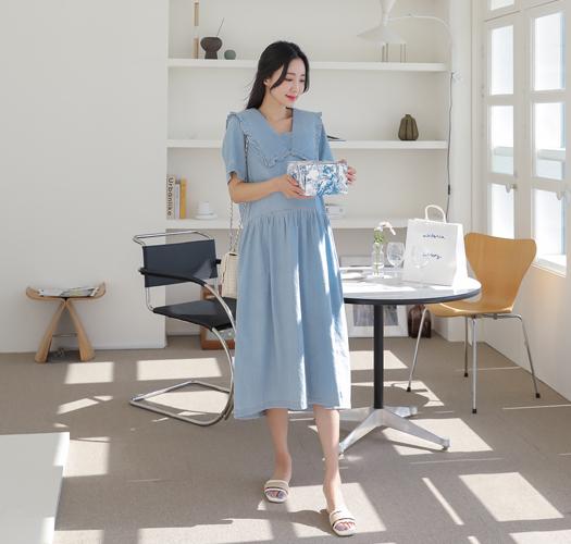 soim-[임부복*쎄일러데님 임산부원피스]♡韓國孕婦裝連身裙