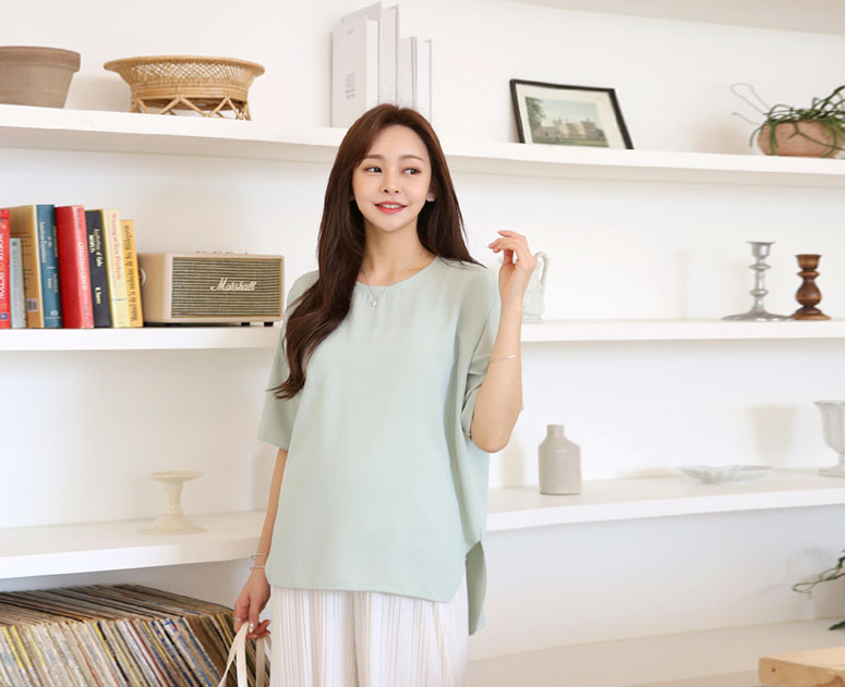happy10-[*신상5% 기간한정할인*임부복*샤샤찰랑언발 블라우스]♡韓國孕婦裝上衣
