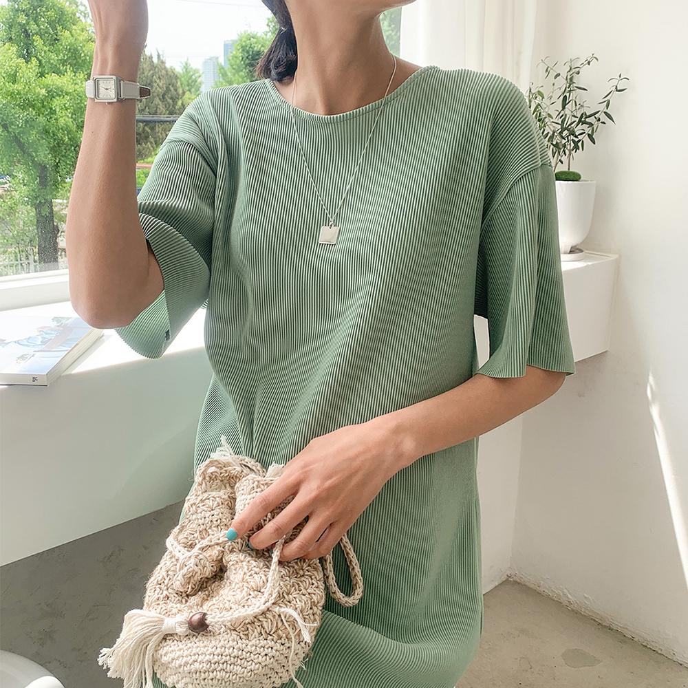 momnuri-임부복*플레이팅 원피스 ♡韓國孕婦裝連身裙