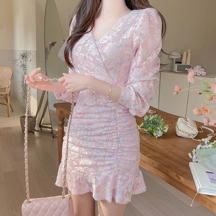 myfiona-빛나로즈 가슴랩 원피스 a1384 - 러블리 로맨틱룩 1위 쇼핑몰 피오나♡韓國女裝連身裙