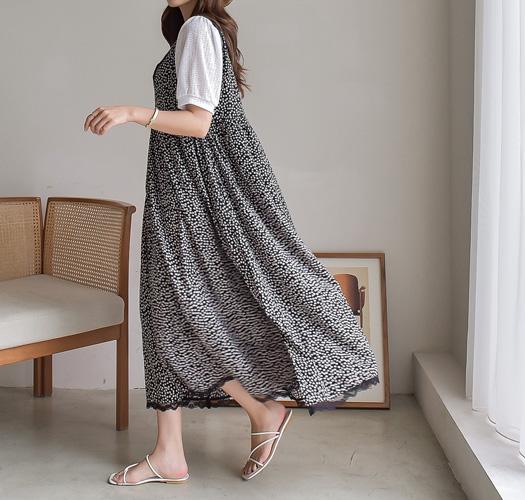 soim-[임부복*플라워레이스뷔스티에 임산부원피스]♡韓國孕婦裝連身裙