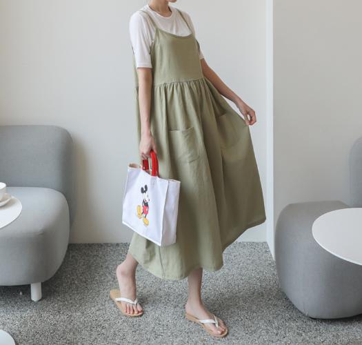 soim-[임부복*밀크린넨 레이어드 임산부원피스]♡韓國孕婦裝連身裙
