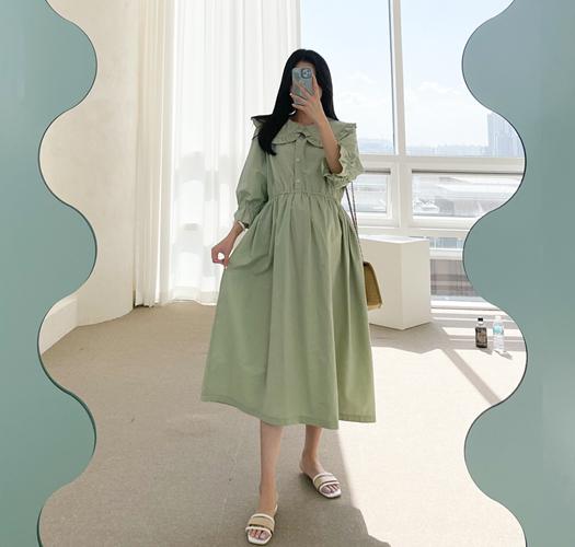 soim-[임부복*다이뽀 임산부원피스(수유가능)]♡韓國孕婦裝連身裙