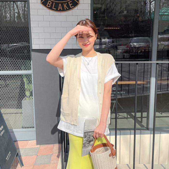 momnuri-임부복*웃음가득 니트베스트 ♡韓國孕婦裝外套