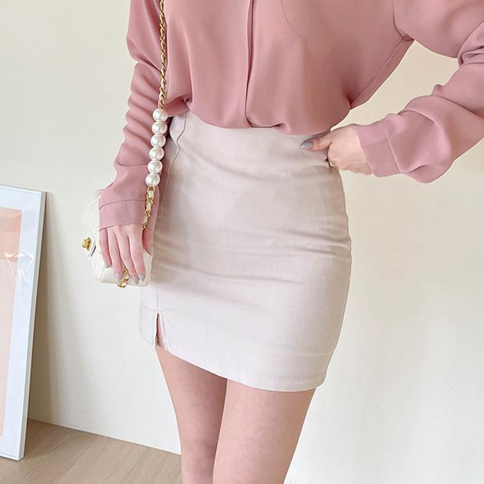 myfiona-크리미 트임미니스커트 a1382 - 러블리 로맨틱룩 1위 쇼핑몰 피오나♡韓國女裝裙