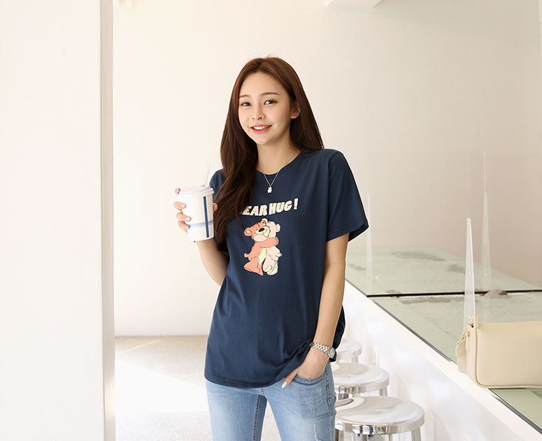 happy10-[*신상5% 기간한정할인*임부복*스윗베어코튼 티]♡韓國孕婦裝上衣