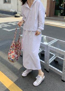 ifgirl-후드 스커트 세트 (2color),굿!♡韓國女裝套裝