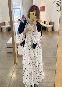 ifgirl-에이미 도트 원피스 (2color)♡韓國女裝連身裙