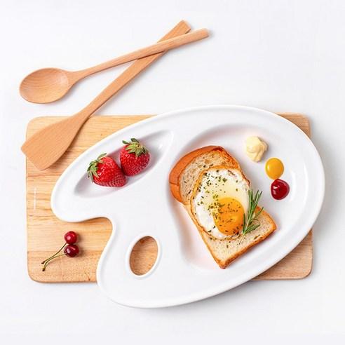 Nineware Pastel Picasso Tray 畢卡索調色分隔餐盤 (白色)