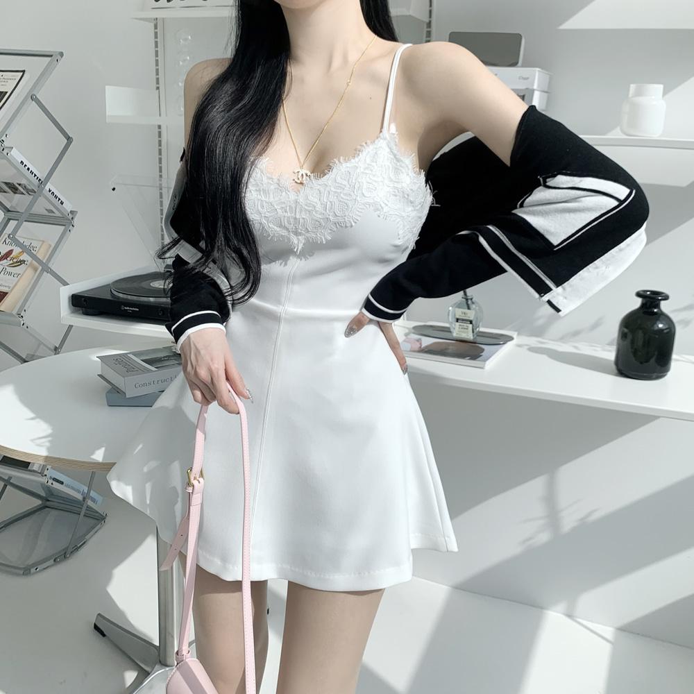 uinme-뷔스띠에 미니 원피스 - [ 2color ] - 유인미뷔스띠에 미니 원피스 - [ 2color ] - 유인미♡韓國女裝連身裙