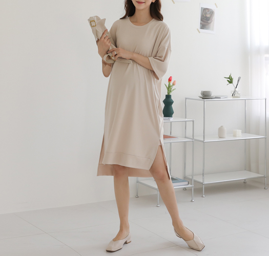 soim-[임부복*컴포트언발반팔 임산부원피스]♡韓國孕婦裝連身裙