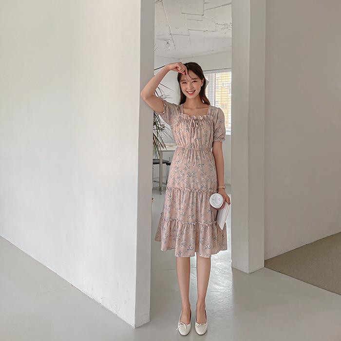 momnuri-임부복*여리풀꽃 원피스 ♡韓國孕婦裝連身裙