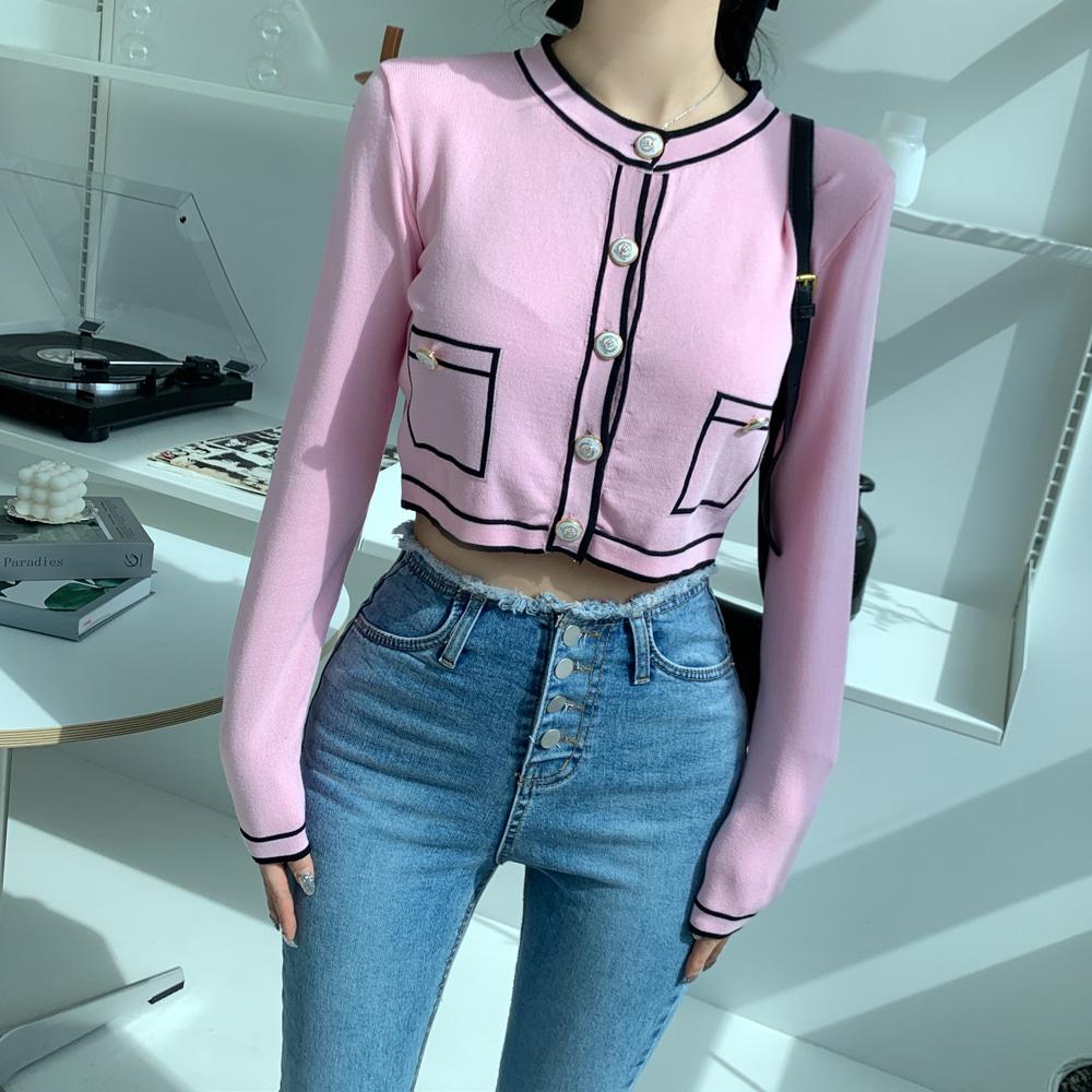 uinme-드로잉 버튼 가디건 - [ 3color ] - 유인미드로잉 버튼 가디건 - [ 3color ] - 유인미♡韓國女裝外套