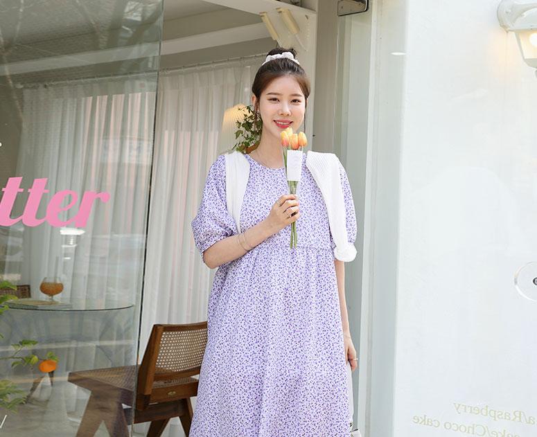 happy10-[*신상5% 기간한정할인*임부복*플라워가든 원피스]♡韓國孕婦裝連身裙