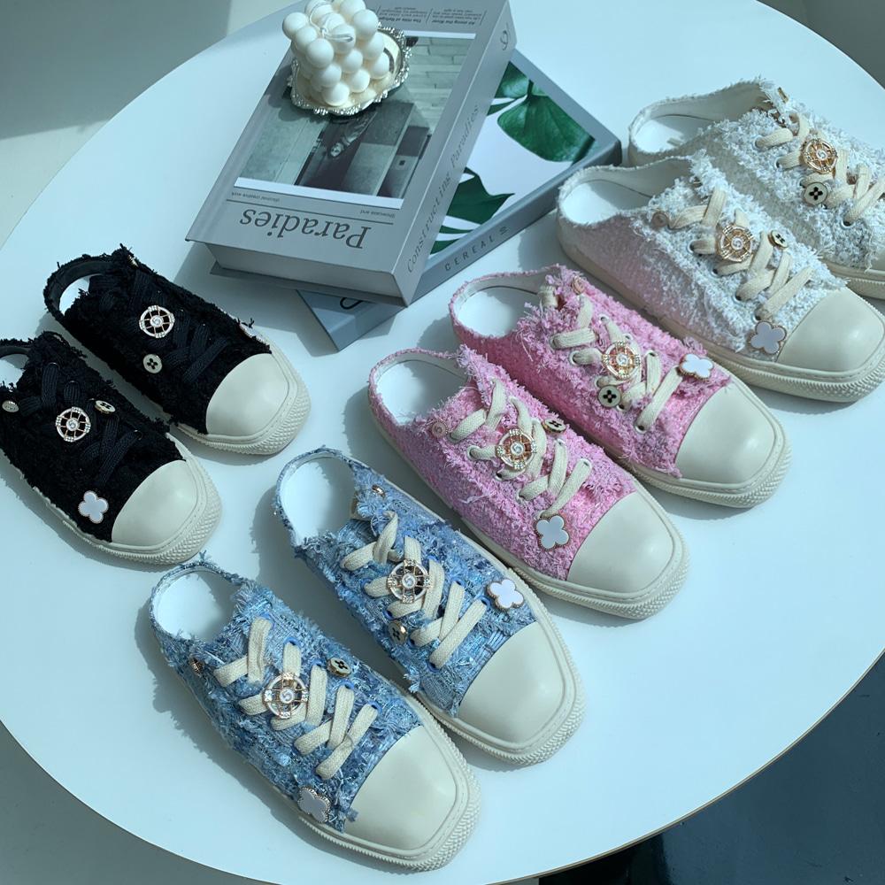 uinme-샤니 트위드 블로퍼 - [ 4color ] - 유인미샤니 트위드 블로퍼 - [ 4color ] - 유인미♡韓國女裝鞋