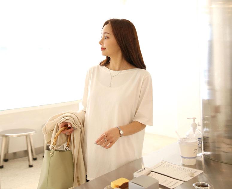 happy10-[임부복*목선이예뻐 티]♡韓國孕婦裝上衣