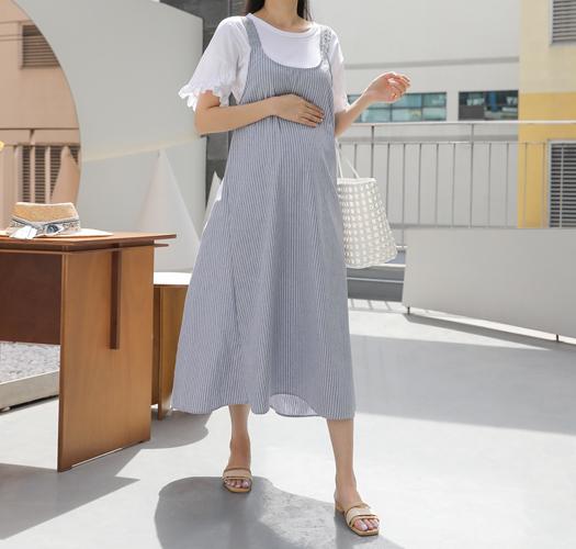 soim-[임부복*파도줄지레이스끈 임산부원피스]♡韓國孕婦裝連身裙