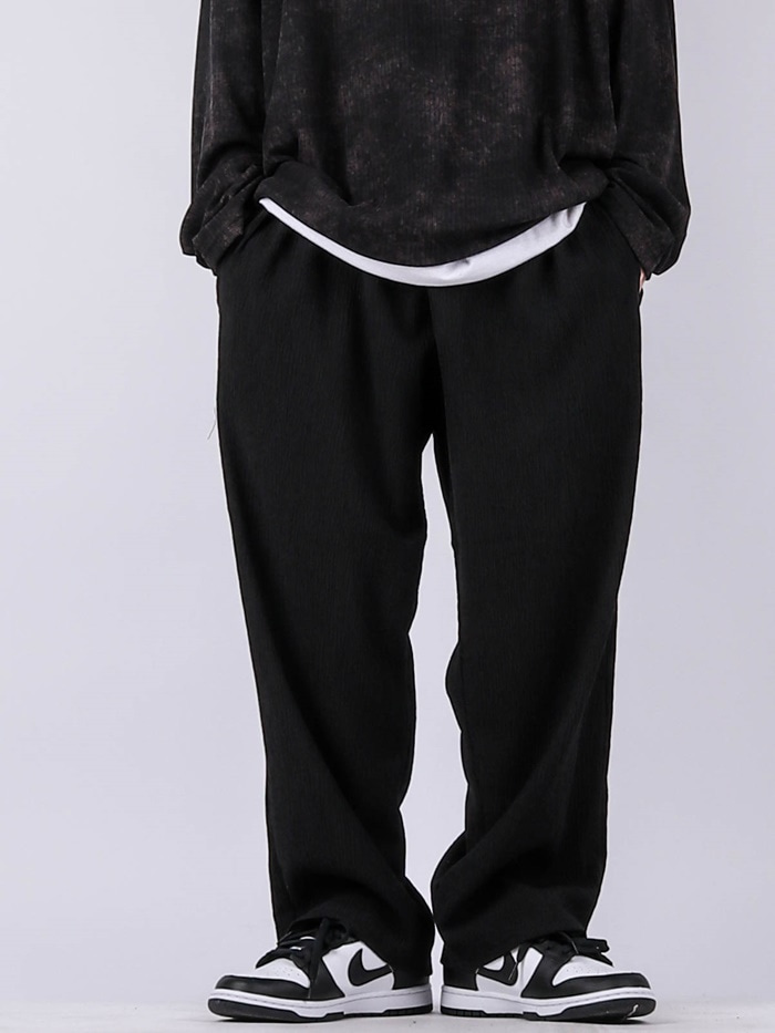 justyoung-NV Pleated Wide Pants (4color)♡韓國男裝褲子