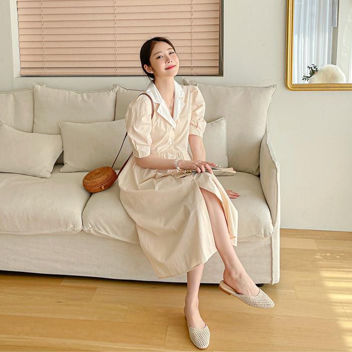 momnuri-임부복*요앤카라 원피스(수유가능) ♡韓國孕婦裝連身裙