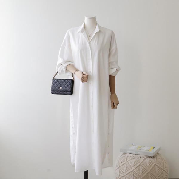 mariangplus-[P] 카인디 셔츠 원피스 P_D4110♡韓國女裝連身裙