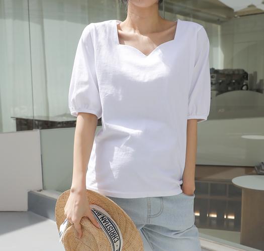 soim-[임부복*하트넥 실키티셔츠]♡韓國孕婦裝上衣