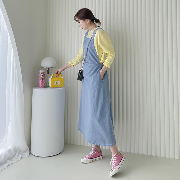 canmart-[플레어롱데님원피스 C040134]♡韓國女裝連身裙