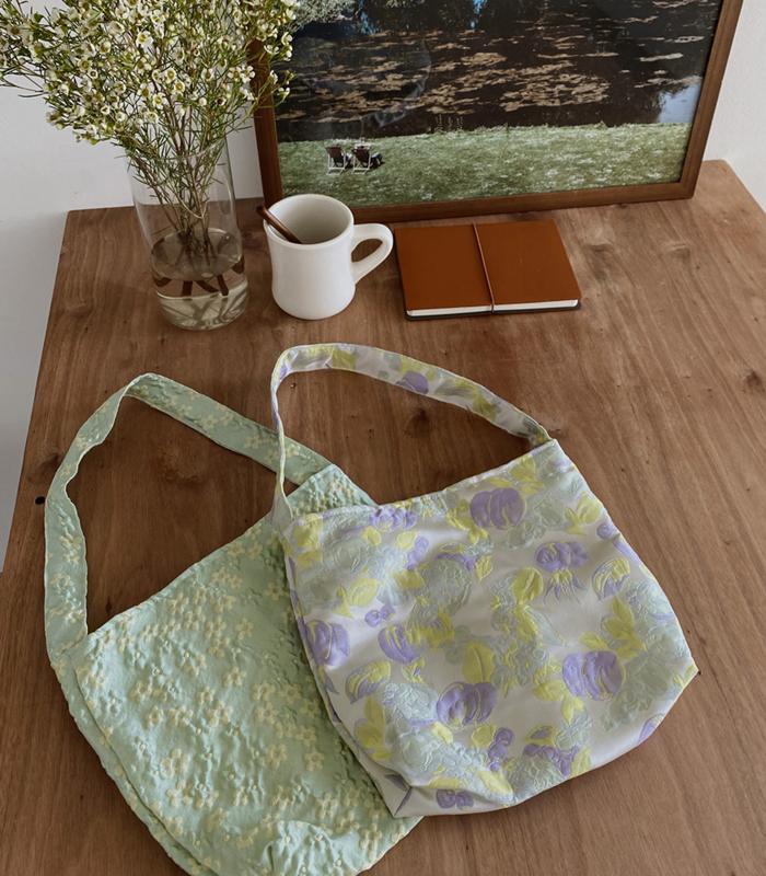sibuya-[파스텔 플라워 자카드 bag]♡韓國女裝袋