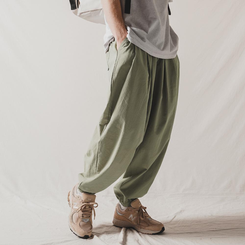 fairplay142-[[4/14배송][더블유브이프로젝트] 로우키 밴딩 쿨 벌룬 팬츠 라이트카키 CJLP7492]♡韓國男裝褲子