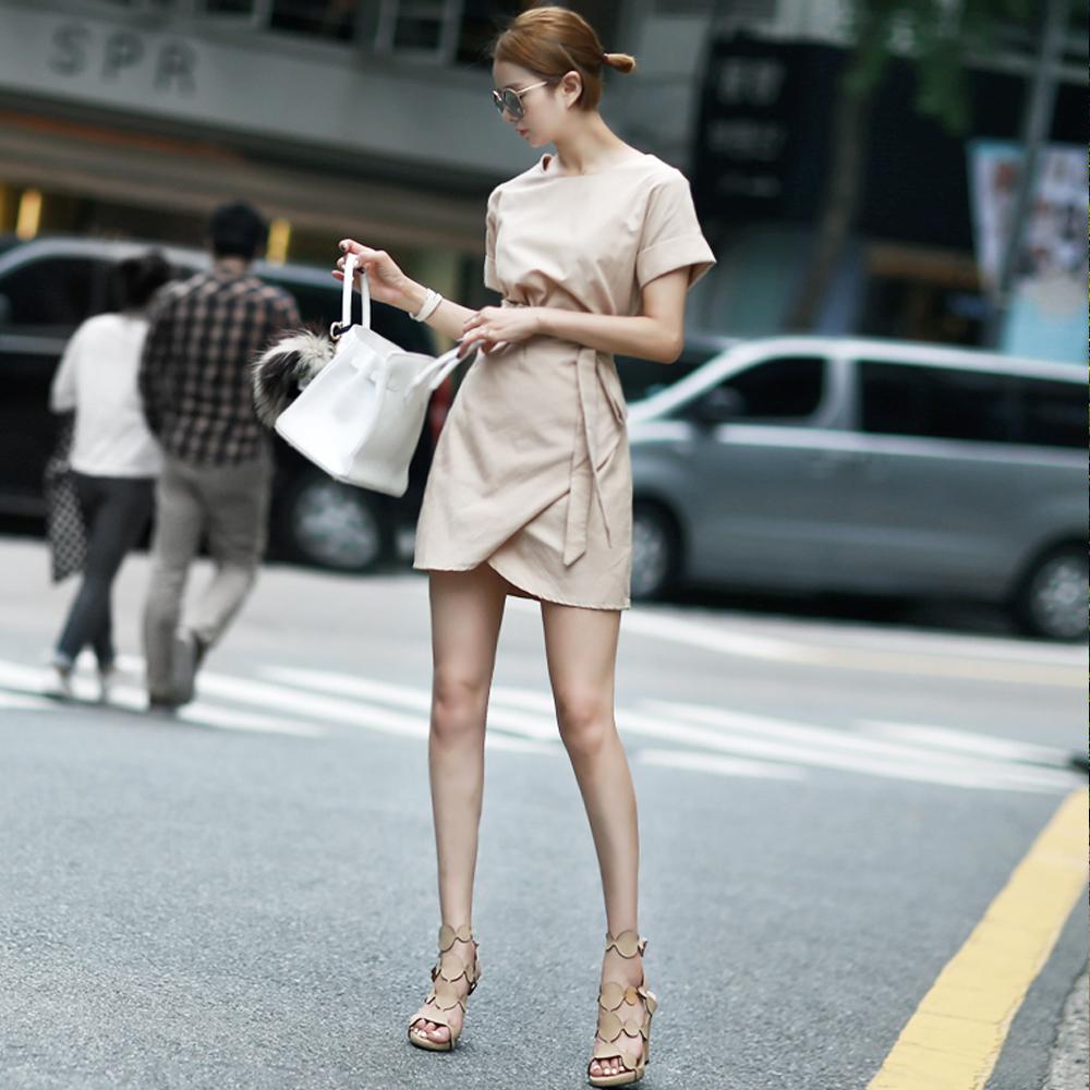 dint-[D2757 플런 클린 랩 미니 원피스(225th REORDER)]Document♡韓國女裝連身裙