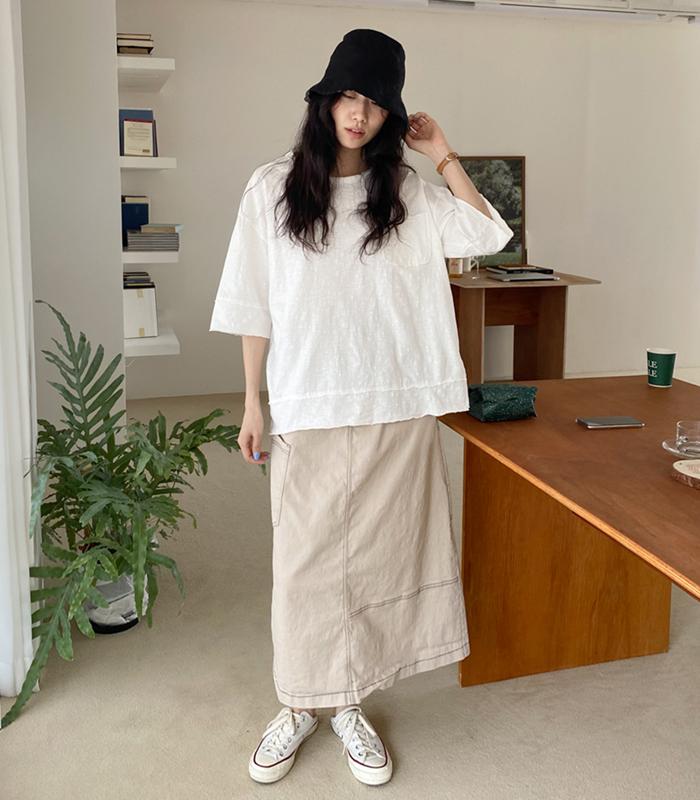 sibuya-[포켓 데끼 슬럽 tee]♡韓國女裝上衣