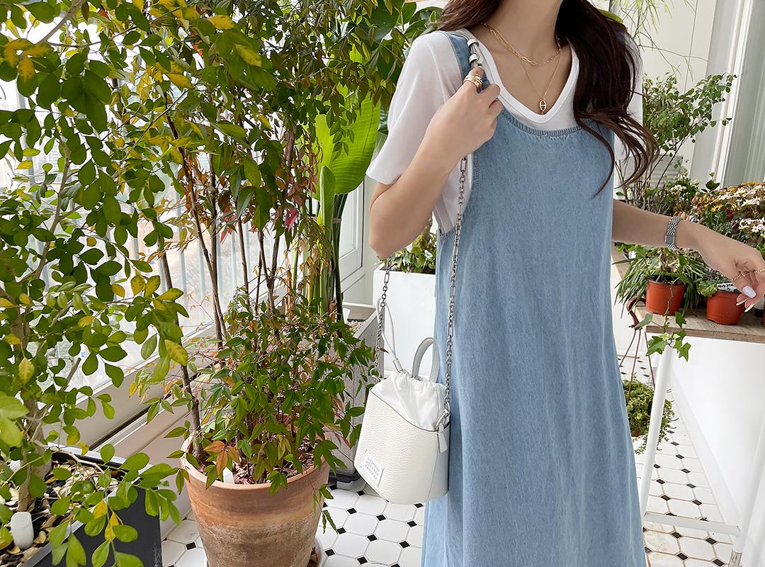 naning9-뮤크메 백포인트데님원피스(중C03)♡韓國女裝連身裙