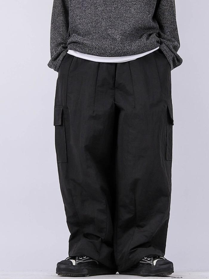 justyoung-OS Nylon Balloon Cargo Pants (3color)♡韓國男裝褲子