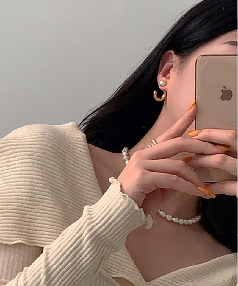 mollymanon-애니번 진주 이어링♡韓國女裝飾品