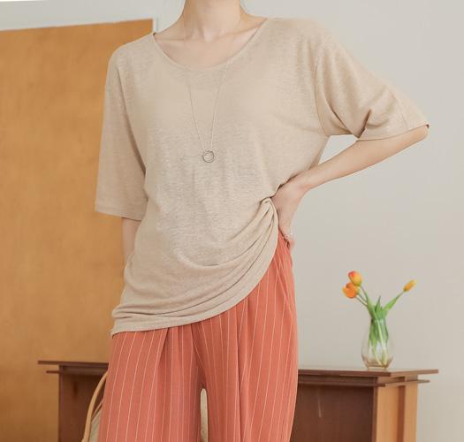 soim-[임부복*시원함더한 린넨티셔츠]♡韓國孕婦裝上衣