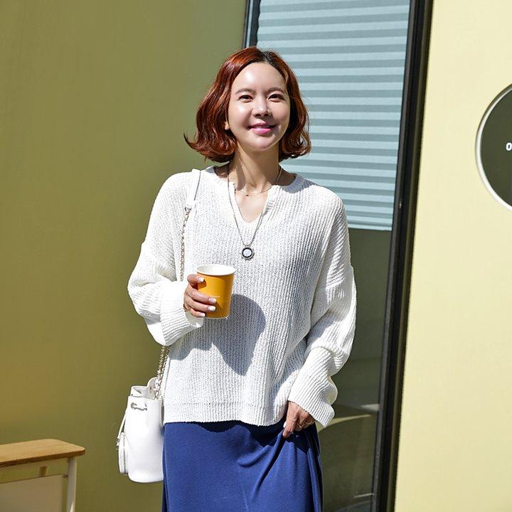 lemite-스카시 루즈니트(44~77사이즈)♡韓國女裝上衣