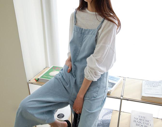 chichera-세련된 그녀들의 선택, 시크헤라[이지데님점프수트]♡韓國女裝褲