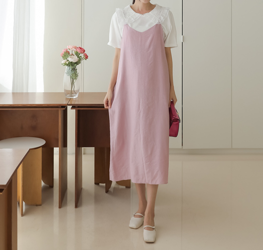 soim-[임부복*링클뷔스티에 임산부원피스]♡韓國孕婦裝連身裙