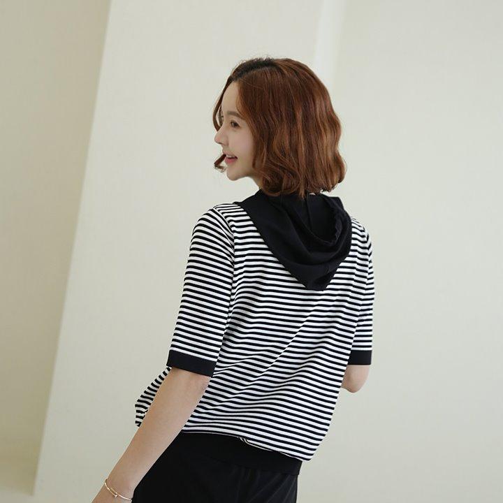 lemite-레터링 썸머후드니트♡韓國女裝上衣
