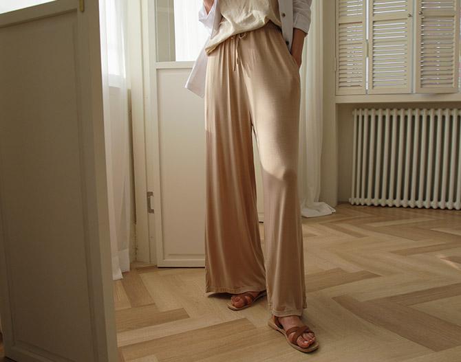 chichera-세련된 그녀들의 선택, 시크헤라[차르르와이드밴딩이지팬츠]♡韓國女裝褲