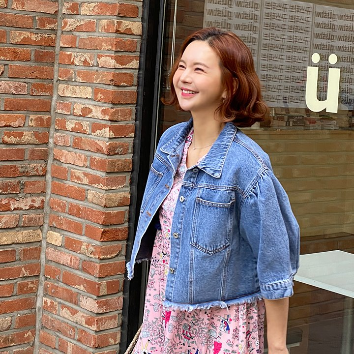 lemite-반팔시원 데님자켓♡韓國女裝外套
