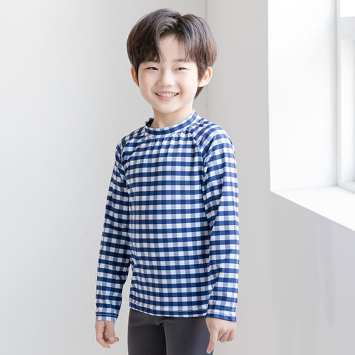littlesmile-체크래쉬가드♡韓國童裝套裝