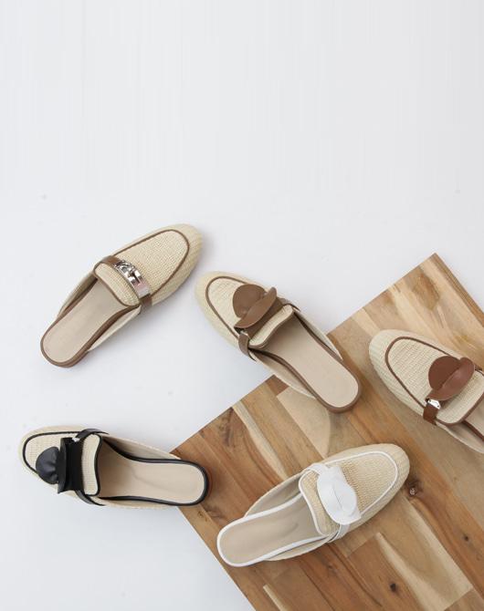 lemite-라인라탄 블로퍼♡韓國女裝鞋