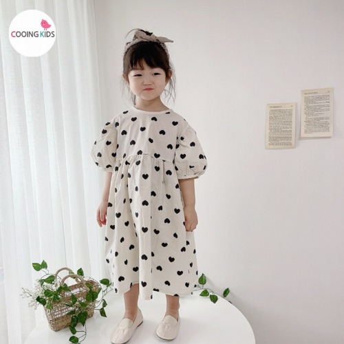 cooingkids-M하트퍼프원피스♡韓國童裝連身裙