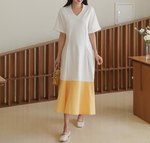 soim-[임부복*컬러플레어 임산부원피스]♡韓國孕婦裝連身裙