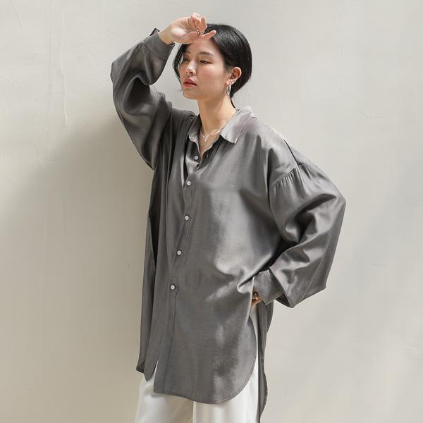 mariangplus-샤이닝 슬릿 블라우스 S_61♡韓國女裝上衣