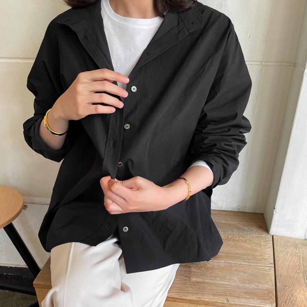 littleblack-블랙 윈드 셔켓♡韓國女裝上衣